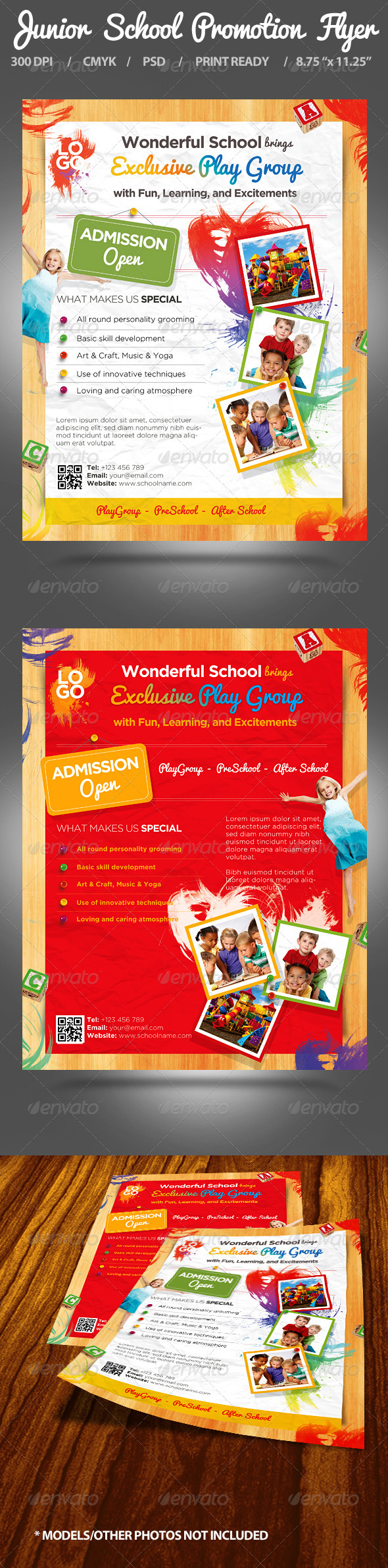 GraphicRiver Junior School Promotion Flyers 5046644