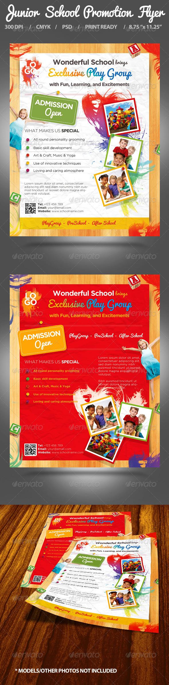 GraphicRiver Junior School Promotion Flyers 5046644