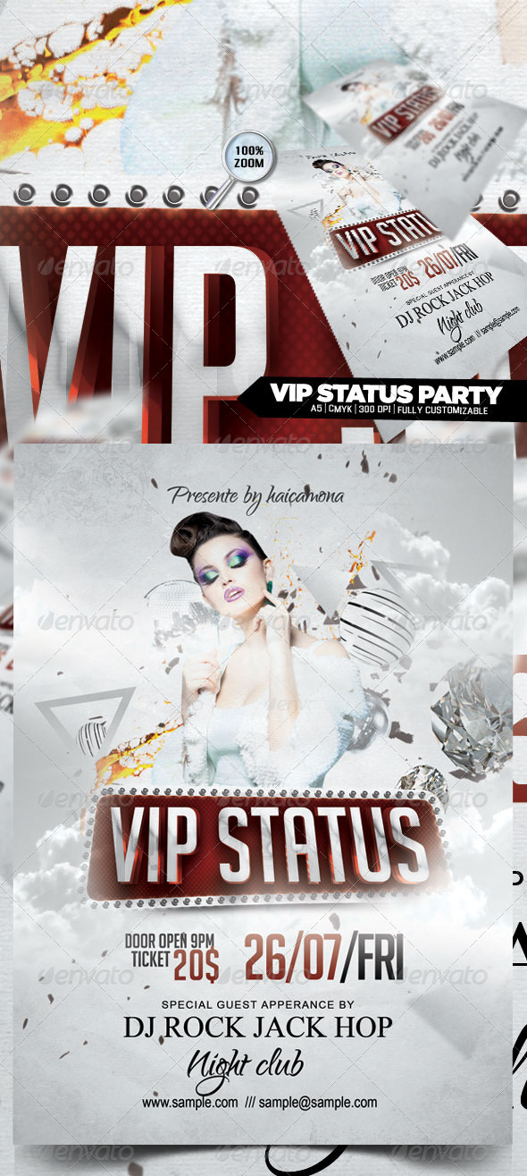 VIP Status Party Flyer - Flyers Print Templates