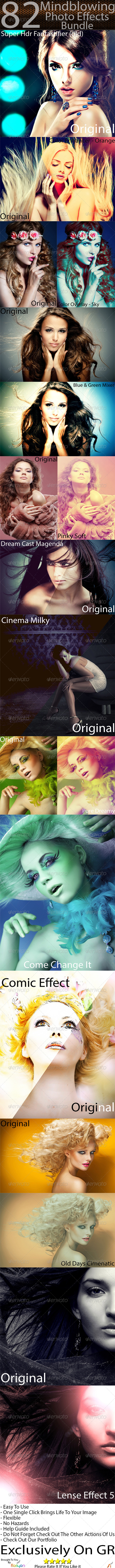 GraphicRiver 82 Mindblowing Photo Effects Bundle 5048620