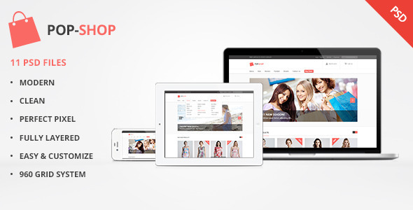 ThemeForest Popshop Retail Shopping eCommerce PSD 5050761