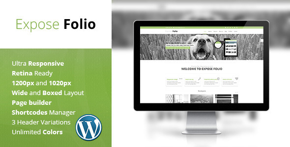 ThemeForest Expose Folio Multipurpose WordPress Theme 5048159