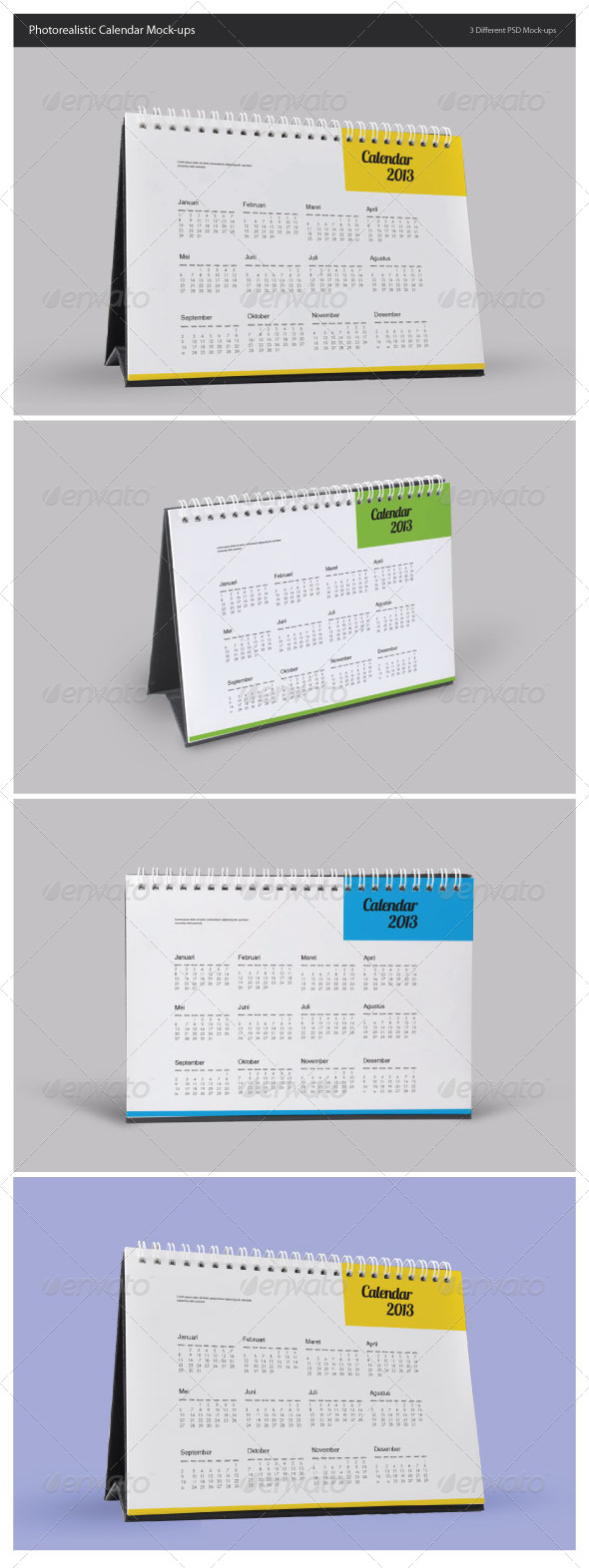 GraphicRiver Photorealistic Calendar Mock-Ups 5051590