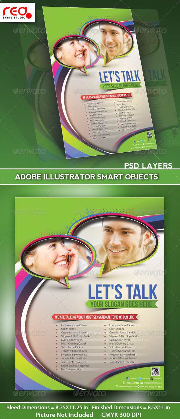 GraphicRiver Customer Support Flyer Poster Magazine Template 5051617