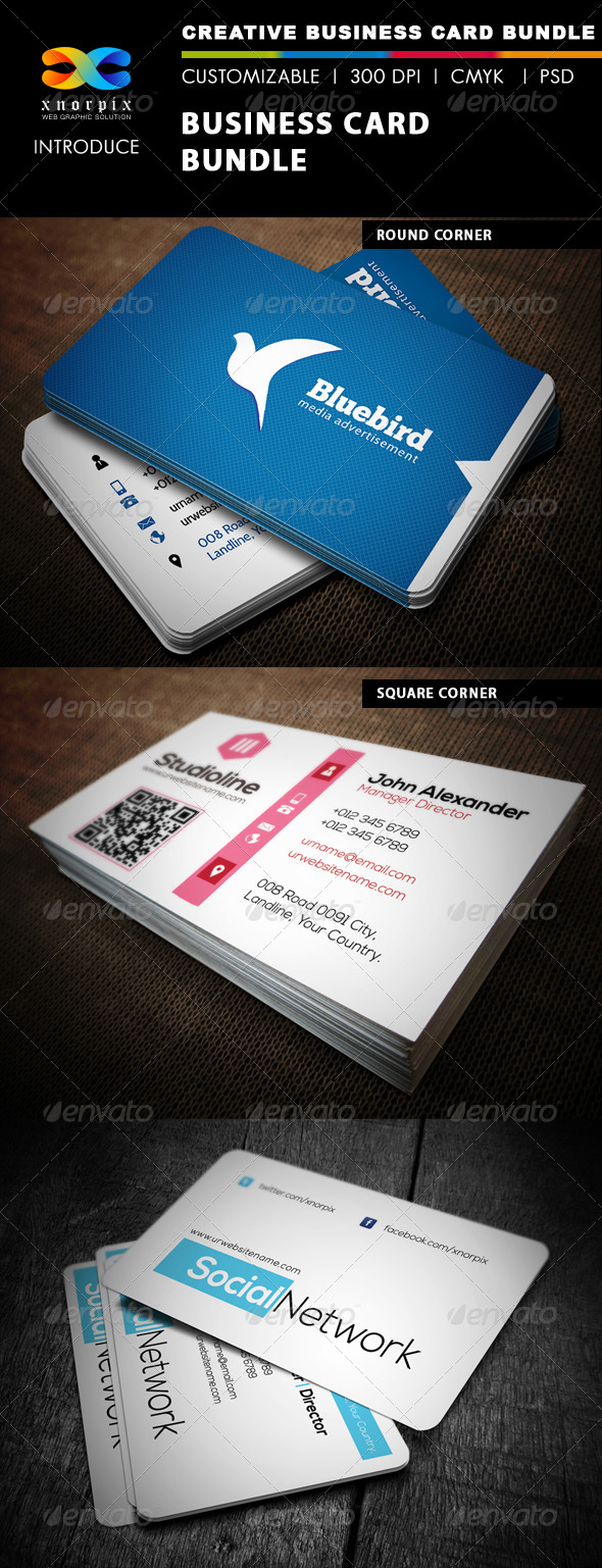 GraphicRiver Business Card Bundle 3 in 1-Vol 5 5052352