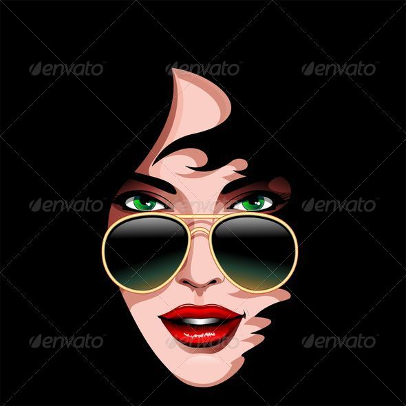 GraphicRiver Girl s Portrait with Sunglasses 5043005