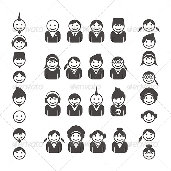 GraphicRiver Portrait of People Icon Set 5052611