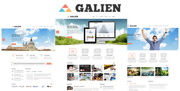 Galien - Corporate PSD Templates