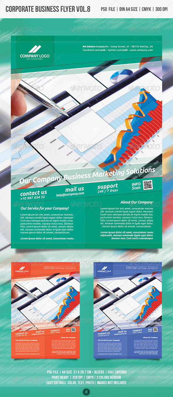 GraphicRiver Corporate Business Flyer vol.9 4986394