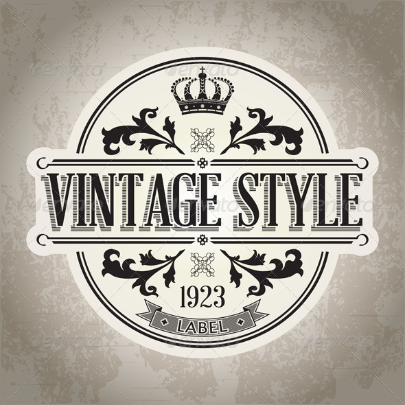 GraphicRiver Vintage Label 4994343