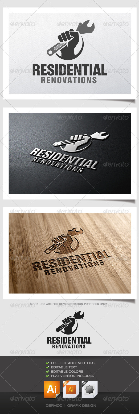 GraphicRiver Residential Renovations Logo 5053449
