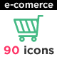 Outline E-Commerce Icon Set - GraphicRiver Item for Sale