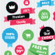 Set of Vector Stickers and Ribbons  - GraphicRiver Item for Sale