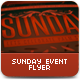 Sunday Event Flyer or Poster - GraphicRiver Item for Sale
