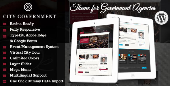 City Government - WordPress Retina Theme - Government Corporate