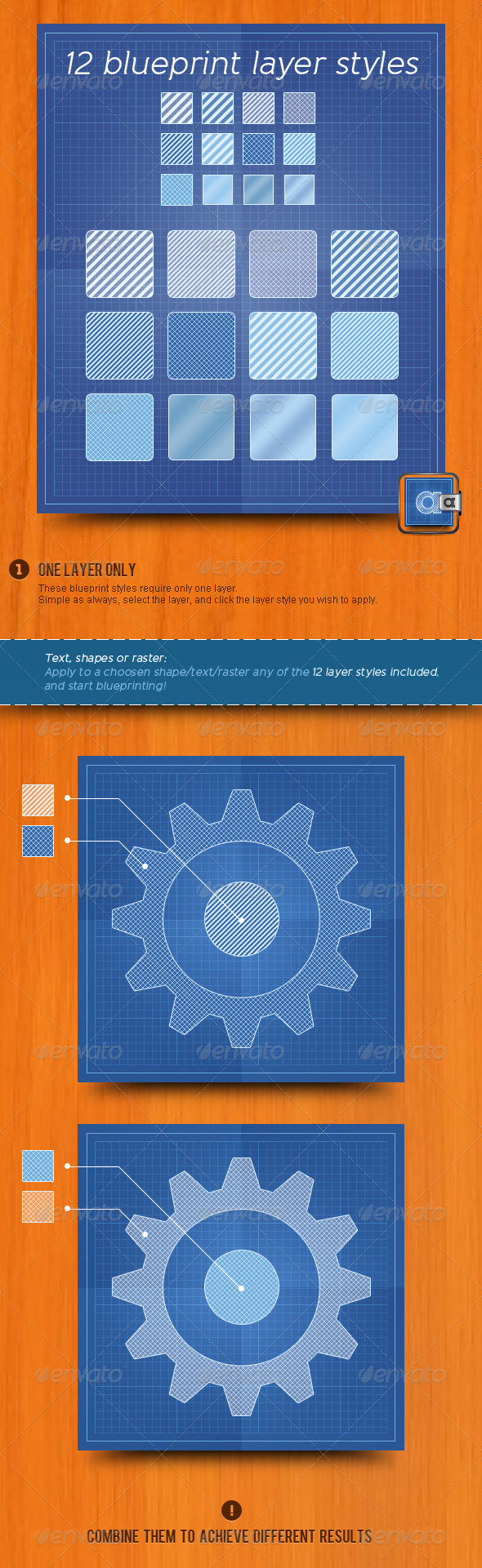 Blueprint Layer Styles - Text Effects Styles