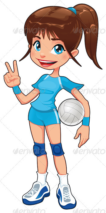Graphic River Young volleyball player. Vectors -  Conceptual  Sports/Activity 519733