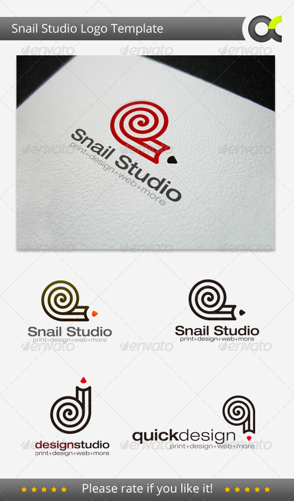 Snail Studio Logo Template - Objects Logo Templates