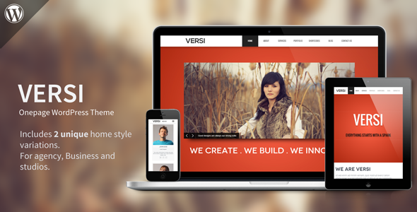 ThemeForest Versi Onepage WordPress Theme 5045903