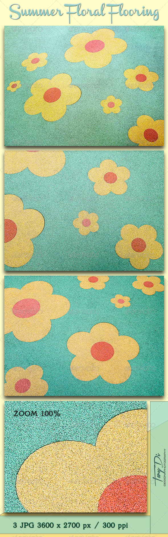 Summer Floral Flooring - Miscellaneous Textures