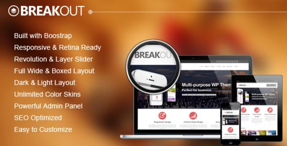 ThemeForest Breakout Retina Responsive Multipurpose WP Theme 4994352