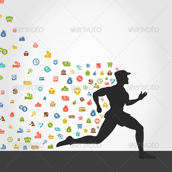 GraphicRiver Runner Money 5057343