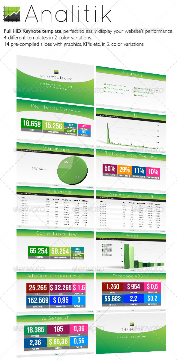 GraphicRiver Analitik Reporting Display Keynote Template 5009821