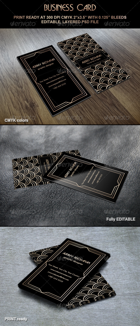GraphicRiver Business Card Art Deco Style 5059106