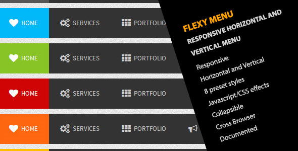 CodeCanyon Flexy Menu Responsive Horizontal & Vertical Menu 5059149