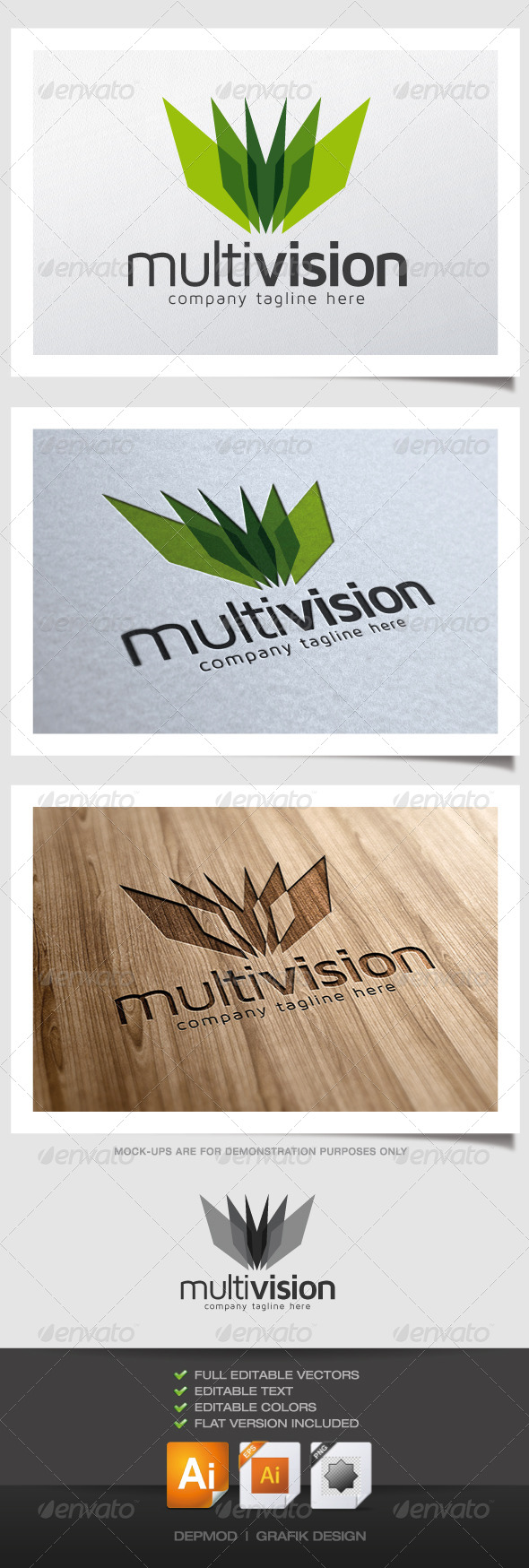 Multi Vision Logo - Abstract Logo Templates