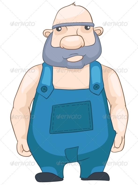 GraphicRiver Cheerful Chubby Man 5059632