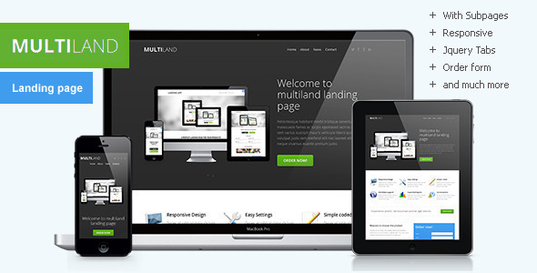 Multiland - Responsive multipurpose landing page - Landing Pages Marketing