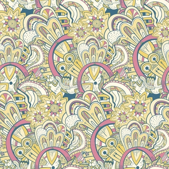 GraphicRiver Seamless Abstract Hand-Drawn Pattern 5059974
