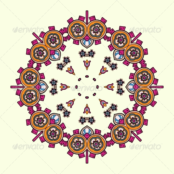 GraphicRiver Circle Lace Steampunk Ornament 5060187