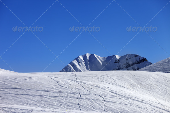 Off-piste slope - Stock Photo - Images