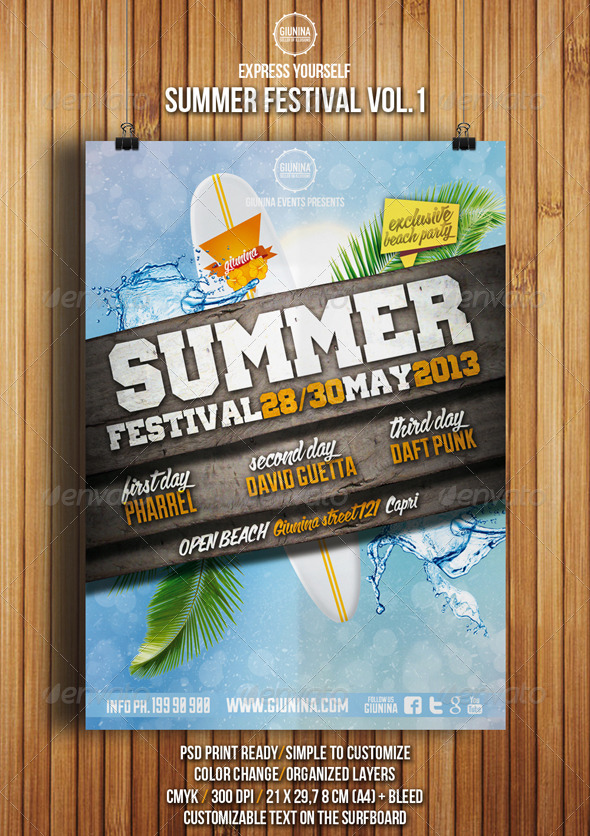 GraphicRiver Summer Festival Flyer Vol.1 4995250
