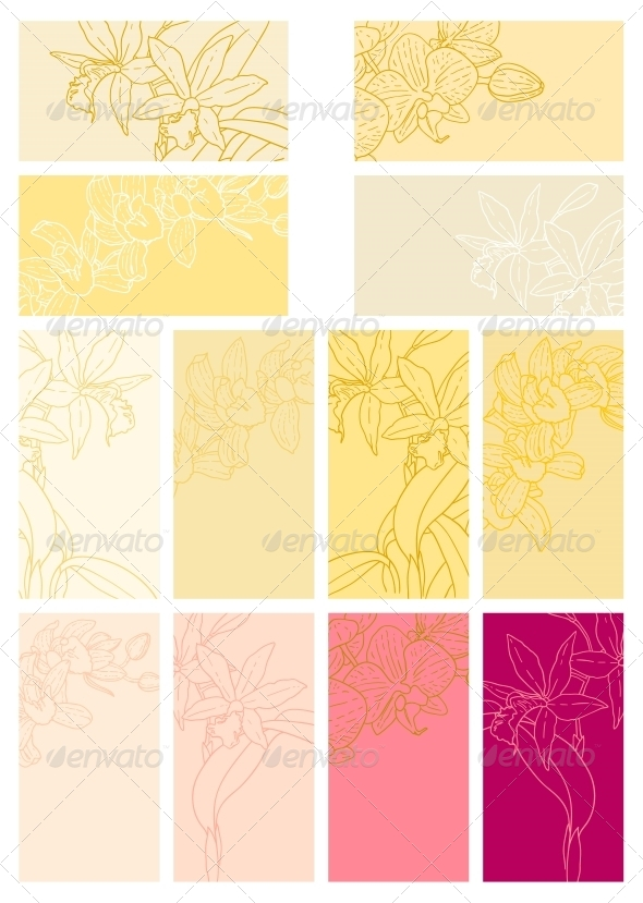 GraphicRiver Collection of Floral Backgrounds with Orchids 5060630