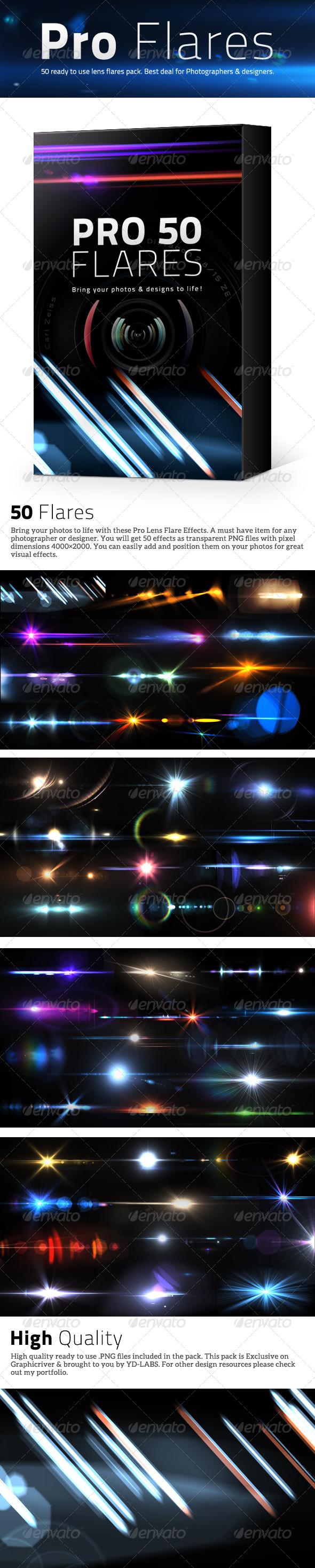 GraphicRiver 50 Pro Lens Flares Pack V1 5035049