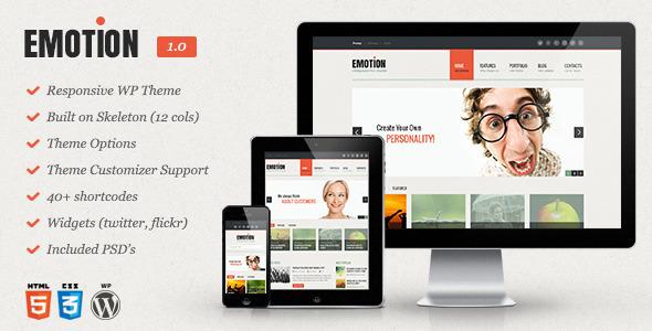 ThemeForest Emotion Responsive WordPress Theme 5045605
