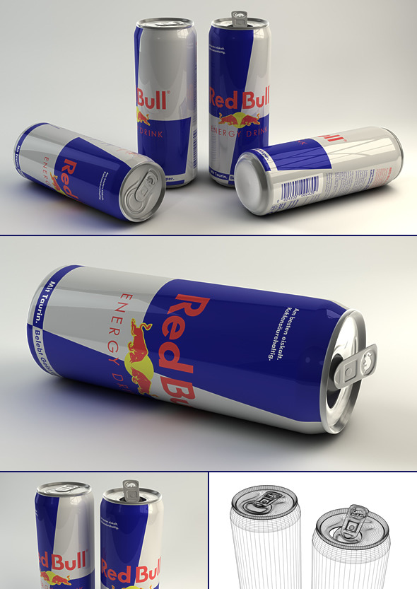 3DOcean 3D Red Bull Can 5061071