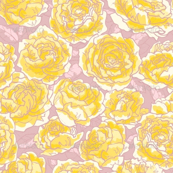 GraphicRiver Seamless Pattern with Roses 5061183
