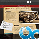 Artist Portfolio Website 01 - ThemeForest Item for Sale
