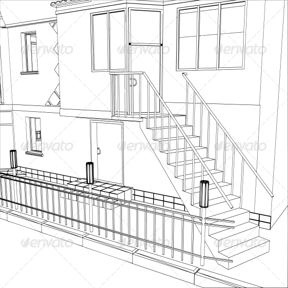 GraphicRiver 3D Vector Construction of Building 5061741