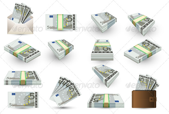GraphicRiver Full Set of Five Euros Banknotes 5062126