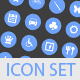 50 Customizable Circle Icons - GraphicRiver Item for Sale