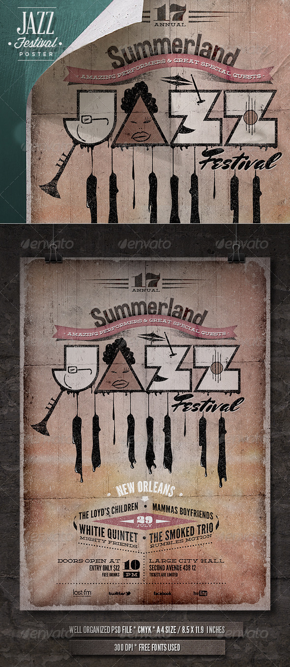 Jazz Poster - IV - Concerts Events