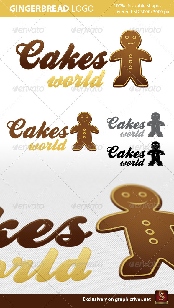 GraphicRiver Gingerbread Logo Template 520464