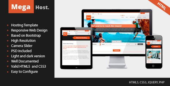 Mega Host - Retina and Responsive template - Hosting Technology