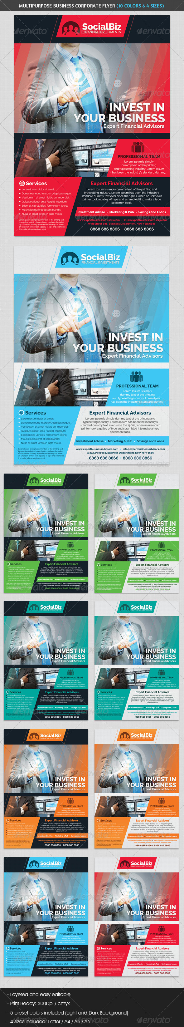 GraphicRiver Multipurpose Business & Sales Corporate Flyer 5063038