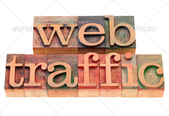 PhotoDune web traffic in letterpress type 528616